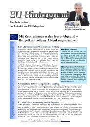 Mit Zentralismus in den Euro-Abgrund - Andreas Mölzer
