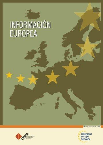 INFORMACIÓN EUROPEA INFORMACIÓN EUROPEA - Crea