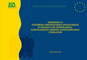 Organizacja systemów zabezpieczenia społecznego w krajach Unii ...
