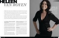 Heleen van Royen - Society World Magazine