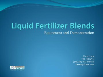 (559)485-0114 ext 6110 - Fluid Fertilizer Foundation