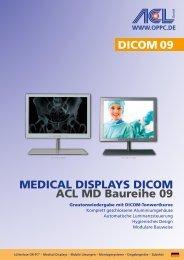 MEDICAL DIspLAys DICOM ACL MD Baureihe 09 DICOM 09