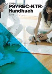 Handbuch PSYREC-KTR – gültig ab Erhebungsperiode 2014