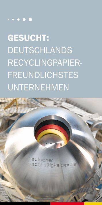 freundlichstes unternehmen - Deutscher Nachhaltigkeitspreis