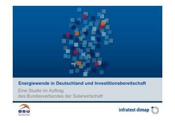 Ei St di i A ft Energiewende in Deutschland und ... - Woche der Sonne