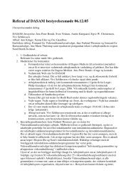 Referat af DASAM bestyrelsesmøde 06.12.05