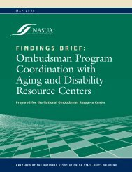 Ombudsman Program Coordination with Aging and Disability ...