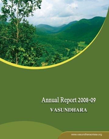 Annual Report-2008-09 - Vasundhara