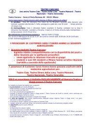 Acquisto biglietti Teatro Carcano - FNM