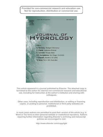 hydrology thesis The hse program currently offers ms (thesis and non-thesis options) and phd degrees in hydrology students take a common core set of classes, but sit in the same.