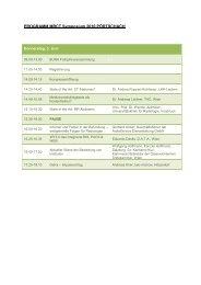 PROGRAMM MRCT Symposium 2010 PÖRTSCHACH