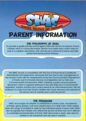 THE PHiLOSOPHY OF SHAC - Waverley Christian College