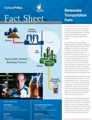 ConocoPhillips and ADM Fact Sheet