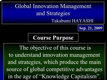Global Innovation Management & Strategies