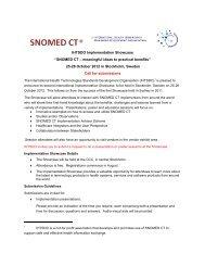 "IHTSDO Implementation Showcase ""SNOMED CT ... - IHE Wiki"