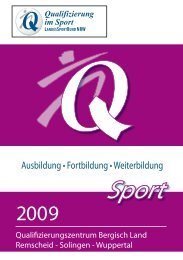 Ausbildung • Fortbildung • Weiterbildung - Sportbund Remscheid e.V.
