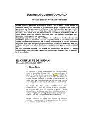 SUDÁN: LA GUERRA OLVIDADA EL CONFLICTE DE SUDAN