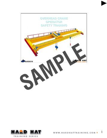 overhead crane operator safety training overhead crane  ... - Osha.com