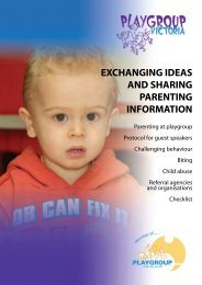 to view ESSENTIAL READING on this module - Playgroup Victoria