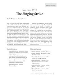 The Singing Strike - Zinn Education Project
