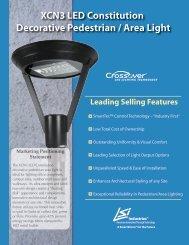XCN3 LED Constitution Decorative Pedestrian ... - LSI Industries Inc.