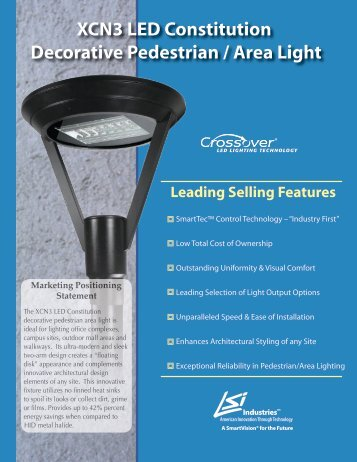 XCN3 LED Constitution Decorative Pedestrian ... - LSI Industries Inc.