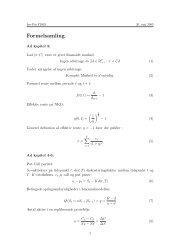 Formelsamling, sidst opdateret 20/5-2003