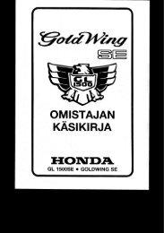 GL1500SE GOLDWING SE käsikirja (.pdf, 2.93 MB) - Honda
