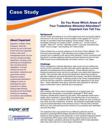 Do You Know Which Areas of Your Tradeshow Attracted ... - Experient