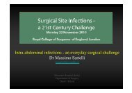 Intra-abdominal infections - an everyday surgical challenge D M i S t ...