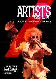 Download the Artists magazine - Adelaide Fringe