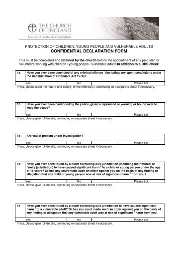 Confidential Medical Declaration Form