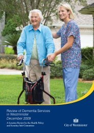 Review of Dementia Services in Westminster December 2009