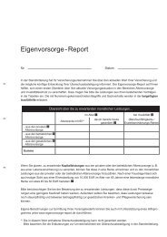 Eigenvorsorge - Report - Continentale