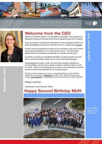 Specialist Update September 2012 - Macquarie University Hospital