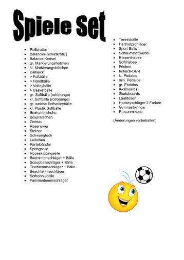 Spiele Stets, einzelne liste