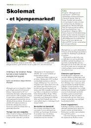 Skolemat - et kjempemarked - Fagbladet Økologisk Landbruk