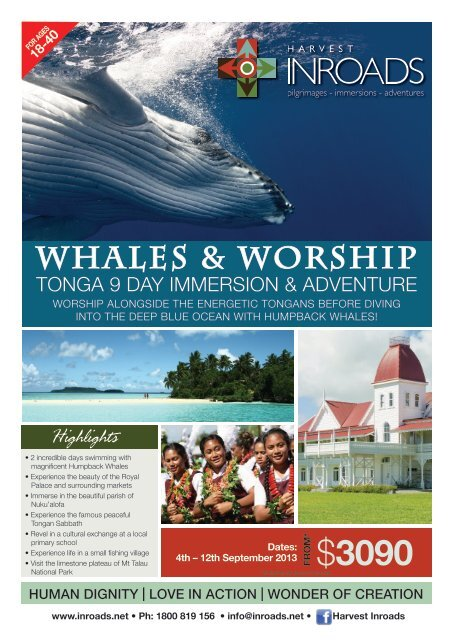 WHALES & WORSHIP - Harvest Inroads