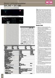 Katalogseite aus dem K27 - ELA Technik und PA ... - Klein + Hummel