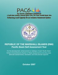 Marshall Islands Self Assessment and Jurisdiction Plan - PAC6
