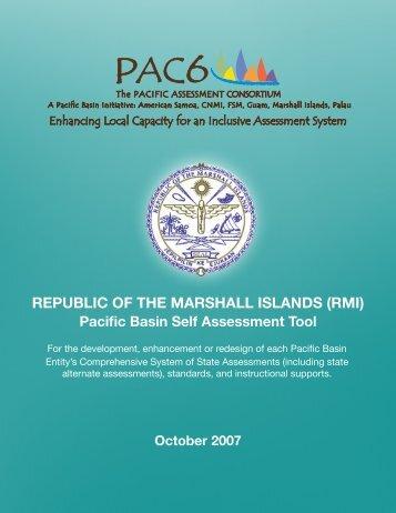 Marshall Islands Self Assessment and Jurisdiction Plan - PAC6