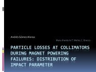 Impact distribution at collimators after magnet powering ... - AB-ABP