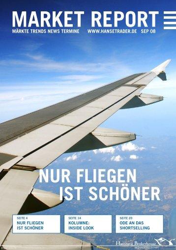NUR FLIEGEN IST SCHÖNER - Hanseatic Brokerhouse