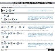 Bedienungsanleitung Oximo RTS kurz - Friedrich-schroeder.de