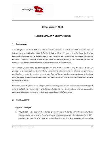 Regulamento do Fundo EDP para a Biodiversidade