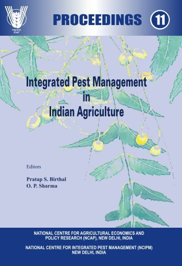Integrated Pest Management in Indian Agriculture - NCAP