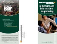 Industrical and Information Engineering Guide for Prospective ...