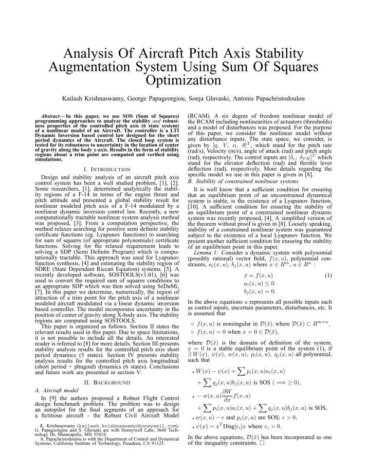 nonlinear aeroelastic analysis of joined wing Abstract a method for static aeroelastic trim analysis and flight loads computation of a flexible aircraft with large deformations has been presented in this paper, which considers the geometric nonlinearity of the structure and the nonplanar effects of aerodynamics.