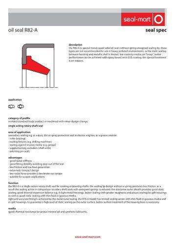 seal spec oil seal R82-A - seal-mart