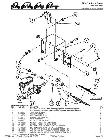 Underneath Car Diagram